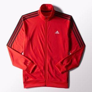 NWT Men Adidas Scarlet Tricot Track Jacket 2xl